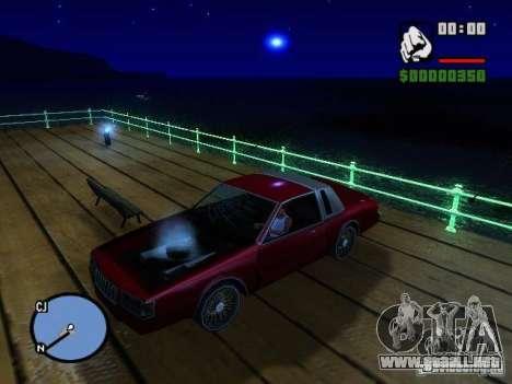 Timecyc BETA 2.0 para GTA San Andreas sucesivamente de pantalla