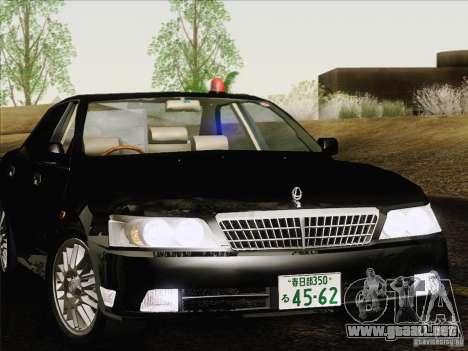 Nissan Laurel GC35 Kouki Unmarked Police Car para GTA San Andreas vista hacia atrás