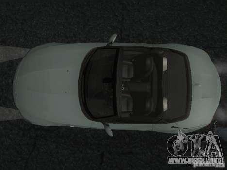 BMW Z4 para vista inferior GTA San Andreas