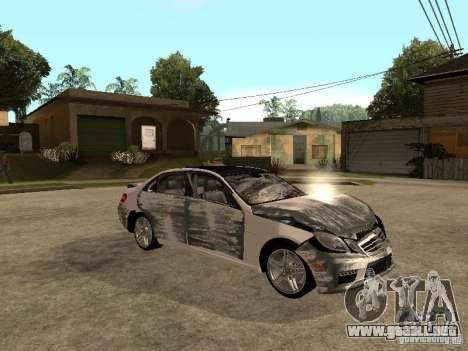 Mercedes-Bens e63 AMG para la vista superior GTA San Andreas