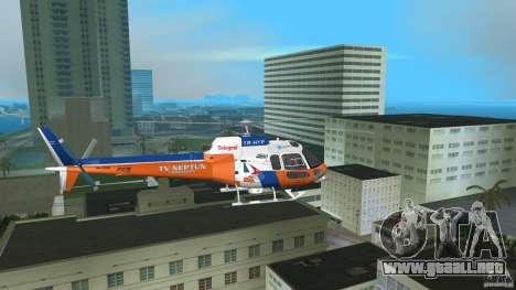 Eurocopter As-350 TV Neptun para GTA Vice City vista posterior