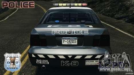 LCPD K9 Unit para GTA 4 vista desde abajo
