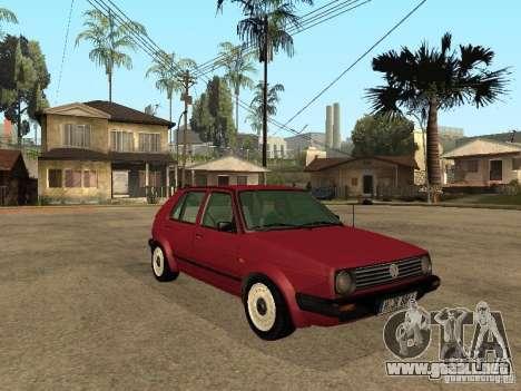 Volkswagen Golf MKII 5dr para la visión correcta GTA San Andreas