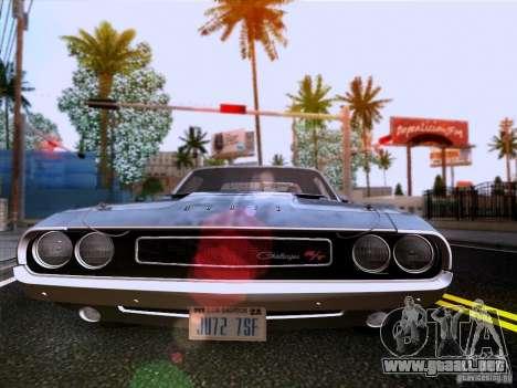 Dodge Challenger HEMI para visión interna GTA San Andreas