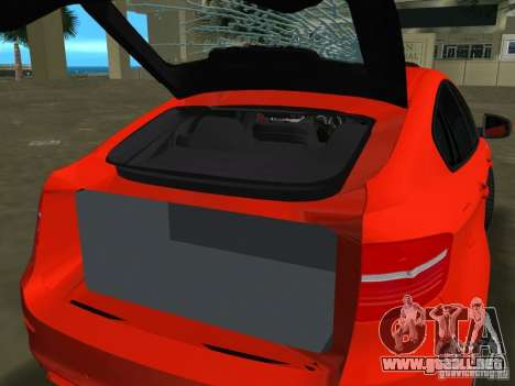 BMW X6M para GTA Vice City left