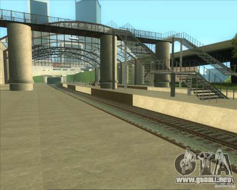 Las plataformas altas en las estaciones de tren para GTA San Andreas sucesivamente de pantalla