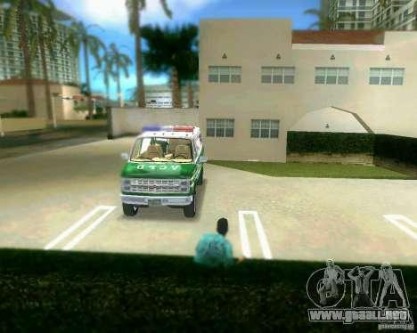 Chevrolet Van G20 para GTA Vice City vista lateral