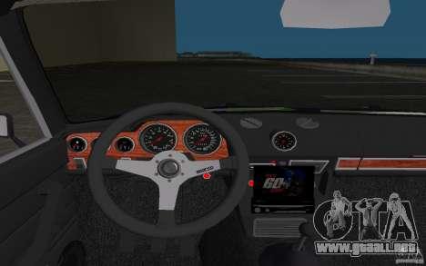 2106 VAZ Tuning v3.0 para GTA Vice City vista superior