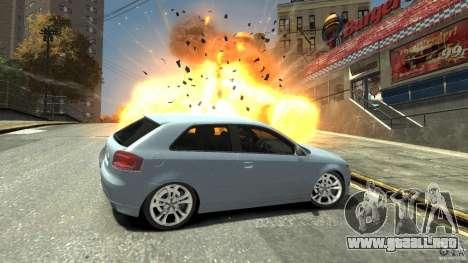 Audi S3 2009 para GTA 4 vista lateral