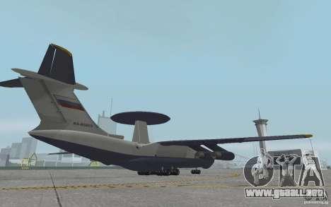 Berijew A-50 Mainstay para GTA San Andreas vista hacia atrás