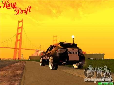 Subaru Impreza WRX Police para GTA San Andreas left