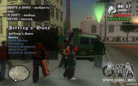 Gun Seller para GTA San Andreas quinta pantalla