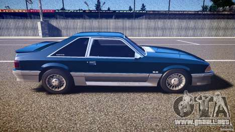 Ford Mustang GT 1993 Rims 1 para GTA 4 vista interior