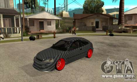 Honda Civic Carbon Latvian Skin para GTA San Andreas left