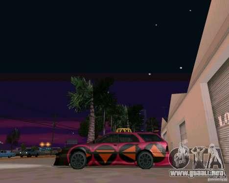 Stratum Tuned Taxi para GTA San Andreas vista posterior izquierda