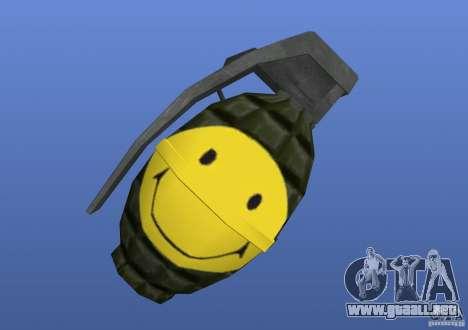 Smiley Granate para GTA 4 segundos de pantalla