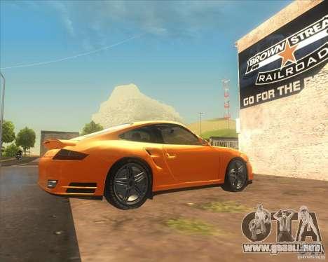 Porsche 911 Turbo (997) 2007 para GTA San Andreas left
