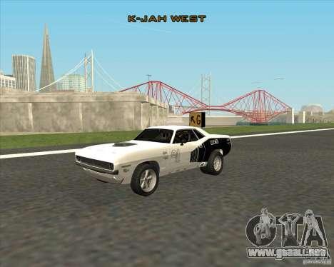 Plymouth Hemi Cuda Rogue para la visión correcta GTA San Andreas