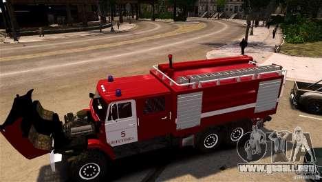ZIL 433474 bombero para GTA 4 Vista posterior izquierda