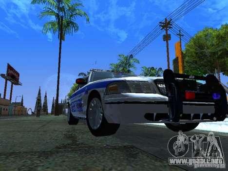 Ford Crown Victoria Police Interceptor 2008 para GTA San Andreas left
