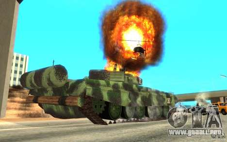 Tanque T-72 para GTA San Andreas vista hacia atrás