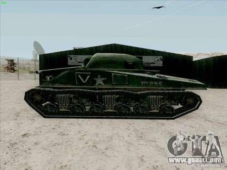 Sherman para GTA San Andreas vista posterior izquierda