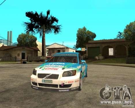VOLVO C30 STCC para GTA San Andreas vista hacia atrás