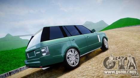 Range Rover Vogue para GTA 4 vista desde abajo