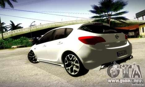 Opel Astra Senner para GTA San Andreas vista posterior izquierda