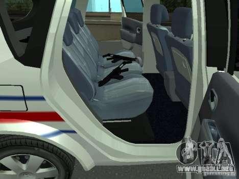 Renault Scenic II Police para GTA San Andreas vista hacia atrás
