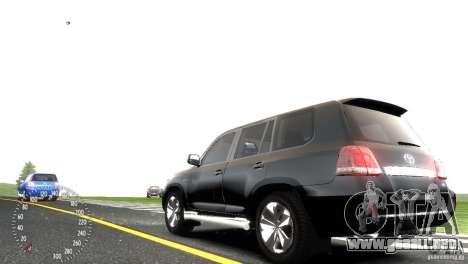 Toyota Land Cruiser 200 RESTALE para GTA 4 vista hacia atrás
