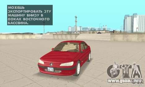 Peugeot 406 stock para GTA San Andreas
