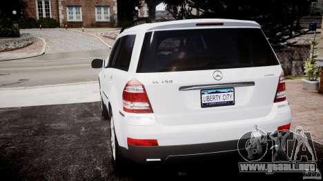 Mercedes-Benz GL450 para GTA 4 Vista posterior izquierda