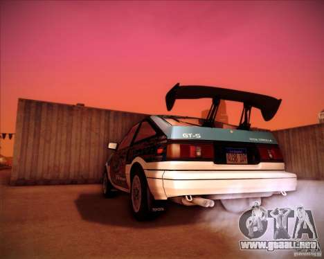 Toyota Corolla AE86 StreetAttack para GTA San Andreas left