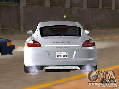 Porsche Panamera Turbo Tunable para GTA San Andreas vista posterior izquierda