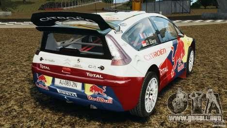 Citroen C4 WRC para GTA 4 Vista posterior izquierda