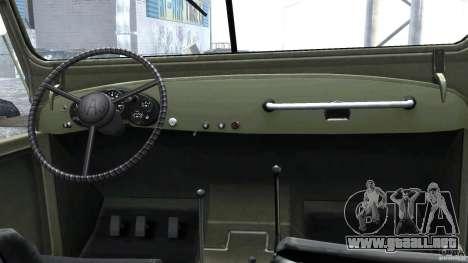 Gaz-69A, 1965 para GTA 4 visión correcta