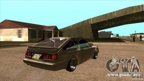 Toyota AE86 JDM para la visión correcta GTA San Andreas