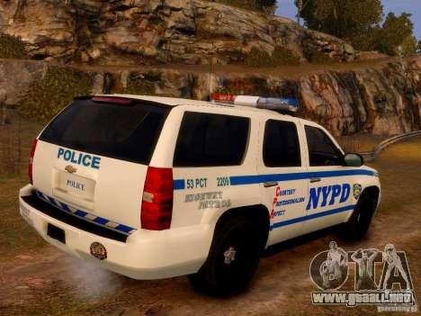Chevrolet Tahoe New York Police para GTA 4 left