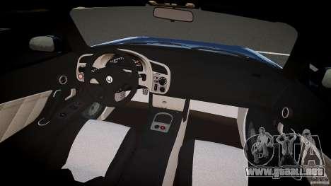 Honda S2000 2002 v2 para un paseo reservado para GTA 4 visión correcta
