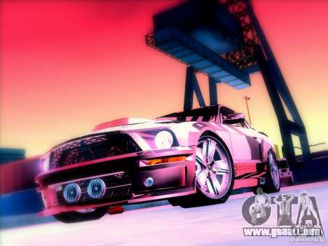 Ford Mustang Eleanor Prototype para visión interna GTA San Andreas