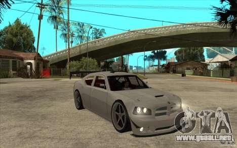 Dodge Charger 2009 para GTA San Andreas vista hacia atrás