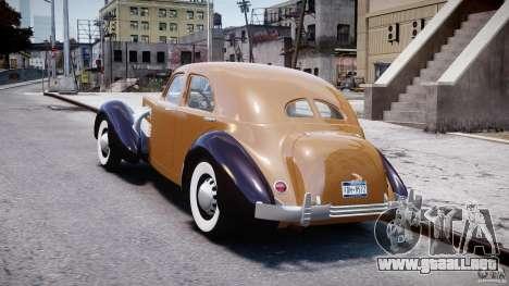 Cord 812 Charged Beverly Sedan 1937 para GTA 4 Vista posterior izquierda