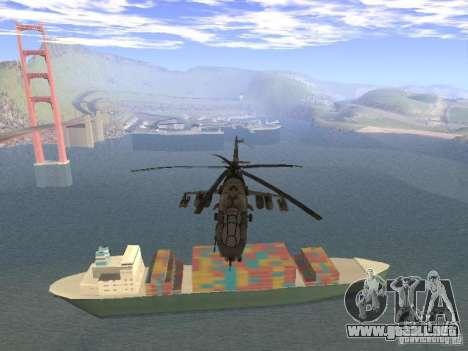 Mi-24 de COD MW 2 para GTA San Andreas vista hacia atrás