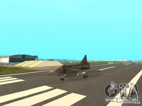 Saab JA-37 Viggen para GTA San Andreas left