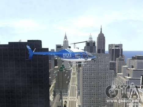 Bell 206 B - NYPD para GTA 4 vista interior
