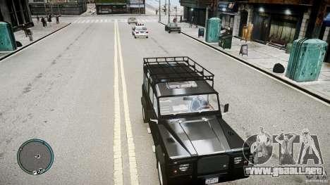 Land Rover Defender para GTA 4 Vista posterior izquierda
