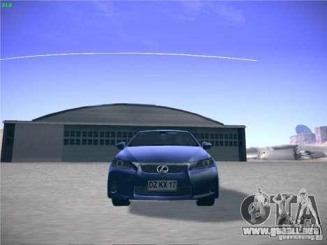 Lexus CT200H 2012 para GTA San Andreas left