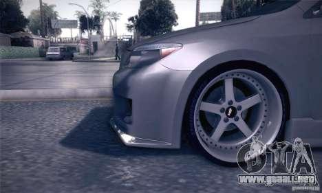 Scion Tc Street Tuning para vista lateral GTA San Andreas