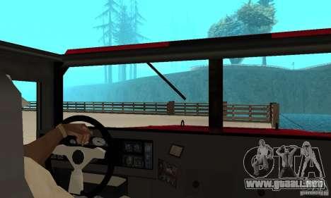 Hummer Civilian Vehicle 1986 para la visión correcta GTA San Andreas